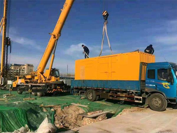 蚌埠万科工程建设租赁一台大型静音发电