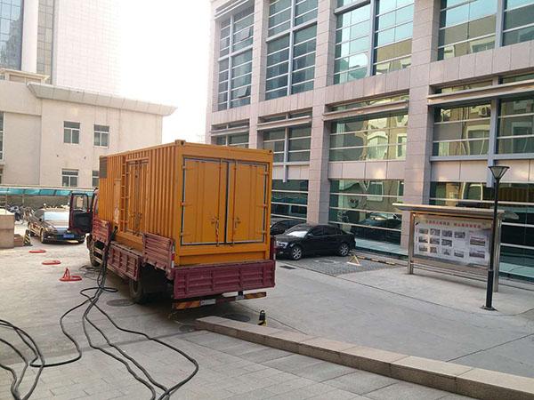 蚌埠瓯海县静音发电机出租案列